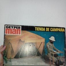 Figuras de acción: CAJA VACÍA GEYPERMAN. TIENDA DE CAMPAÑA, REF. 7400, 1°EPOCA, 1975.. Lote 278701033