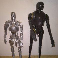 Figuras de acción: TERMINATOR, ANDROIDE K-250 STAR WARS Y REGALO ROBOT HOJALATA. Lote 288571843