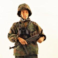 Figuras de acción: DRAGON MODELS ESCALA 1:6 SOLDADO ALEMÁN WWII + PEANA EXPOSITORA COMPLETA. Lote 289858218