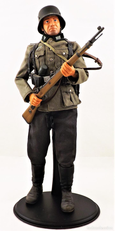 DID, DRAGON ETC... ESCALA 1:6 SOLDADO ALEMÁN WWII + PEANA EXPOSITORA COMPLETA (Juguetes - Figuras de Acción - Otras Figuras de Acción)