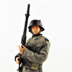 Figuras de acción: DRAGON MODELS ESCALA 1:6 SOLDADO ALEMÁN WWII + PEANA EXPOSITORA. Lote 293796918