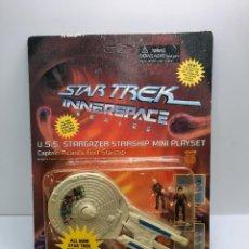 Figuras de acción: STAR TREK INNERSPACE SERIES U.S.S. STARGAZER STARSHIP NAVE TIPO MICROMACHINES STAR WARS. Lote 294824063
