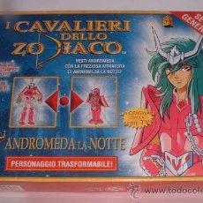 Figuas y Muñecos Caballeros del Zodiaco: I CAVALIERI DELLO ZODIACO D'ORO ANDROMEDA LA NOITTE, SEGUNDA ARMADURA, ITALIANO, EN CAJA.(GA-33) CC. Lote 241645575
