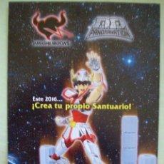 Figuas y Muñecos Caballeros del Zodiaco: CATALOGO TRIPTICO LOS CABALLEROS DEL ZODIACO BANDAI SAINT SEIYA. Lote 129517183