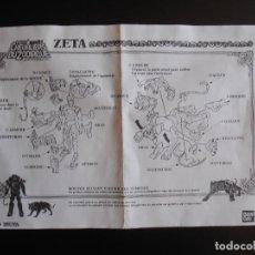 Figuras e Bonecos Os Cavaleiros do Zodíaco: INSTRUCCIONES LOS CABALLEROS DEL ZODIACO ZETA, LES CHEVALIERS DU ZODIAQUE , BANDAI. Lote 86034036