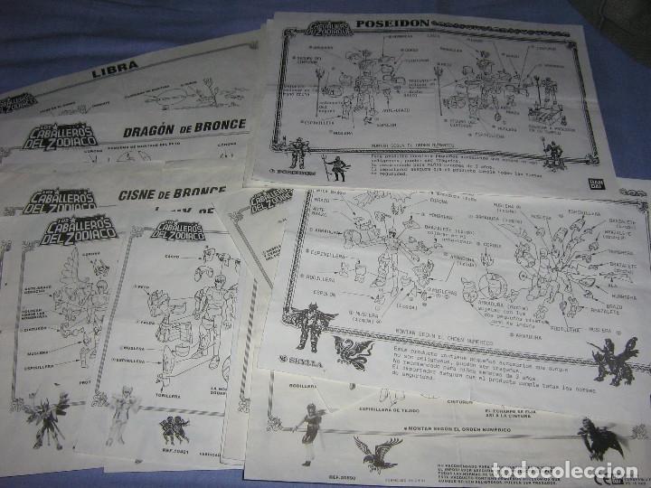 Figuas y Muñecos Caballeros del Zodiaco: COLECCIÓN 19 CABALLEROS DEL ZODIACO VINTAGE (SAINT SEIYA), AÑOS 80, CON MANUALES, BANDAI - Foto 21 - 117311727
