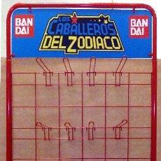 Figuas y Muñecos Caballeros del Zodiaco: EXPOSITOR FIGURAS DE ACCIÓN DE LOS CABALLEROS DEL ZODÍACO DE BANDAI (ESPAÑA - 1990). Lote 127768451