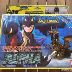 Figuas y Muñecos Caballeros del Zodiaco: CABALLERO DEL ZODIACO ALFA EN CAJA ALPHA BANDAI 1987. Lote 147301218