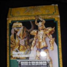 Figuas y Muñecos Caballeros del Zodiaco: CAJA ORIGINAL SIN MUÑECO TAURUS. CABALLEROS DEL ZODIACO CONTIENE ALGUNA PIEZA ARMADURA. Lote 171166678