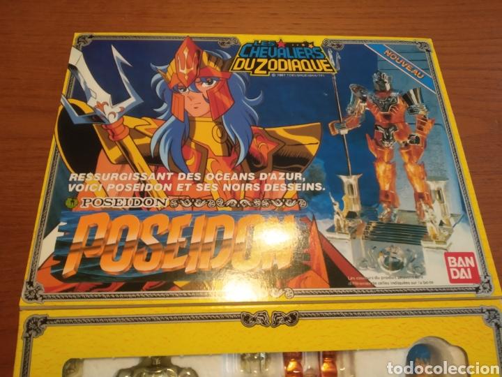 Figuas y Muñecos Caballeros del Zodiaco: Figura Caballero del Zodiaco Poseidón,año 1988.Caja, instrucciones.Bandai - Foto 4 - 257525335
