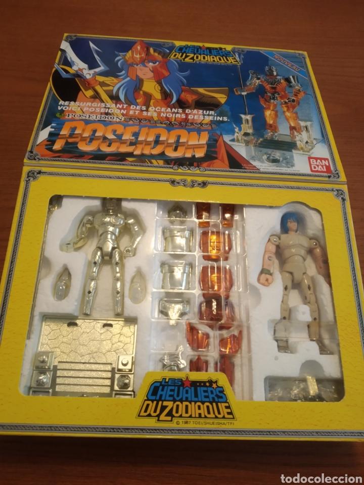 Figuas y Muñecos Caballeros del Zodiaco: Figura Caballero del Zodiaco Poseidón,año 1988.Caja, instrucciones.Bandai - Foto 5 - 257525335