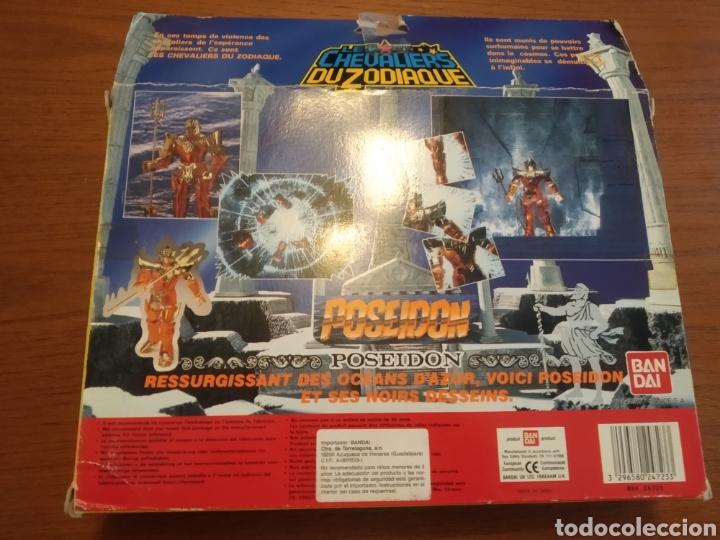 Figuas y Muñecos Caballeros del Zodiaco: Figura Caballero del Zodiaco Poseidón,año 1988.Caja, instrucciones.Bandai - Foto 13 - 257525335