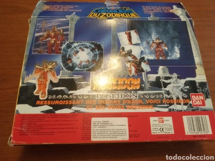 Figuas y Muñecos Caballeros del Zodiaco: Figura Caballero del Zodiaco Poseidón,año 1988.Caja, instrucciones.Bandai - Foto 17 - 257525335