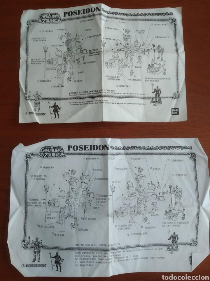 Figuas y Muñecos Caballeros del Zodiaco: Figura Caballero del Zodiaco Poseidón,año 1988.Caja, instrucciones.Bandai - Foto 21 - 257525335