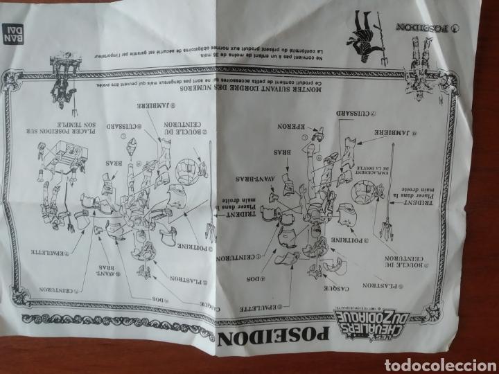 Figuas y Muñecos Caballeros del Zodiaco: Figura Caballero del Zodiaco Poseidón,año 1988.Caja, instrucciones.Bandai - Foto 25 - 257525335