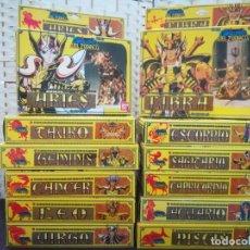 Figuas y Muñecos Caballeros del Zodiaco: COLECCIÓN FIGURAS + CÓMICS DE LOS CABALLEROS DEL ZODIACO (1986-1987) + ÁLBUM DE CROMOS.. Lote 224600977