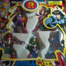 Figuas y Muñecos Caballeros del Zodiaco: CABALLEROS DEL ZODÍACO CAJA 5 FIGURAS BOOTLEG WE ARE SAINT 5 EN 1. Lote 235576460