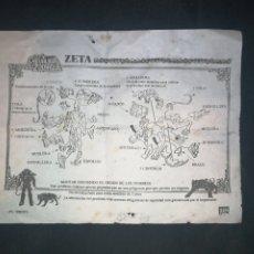 Figuas y Muñecos Caballeros del Zodiaco: ZETA. CABALLEROS DEL ZODIACO. INSTRUCCIONES 1987. BANDAI. EN ESPAÑOL.. Lote 242418470