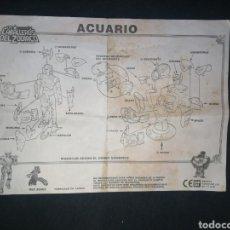 Figuas y Muñecos Caballeros del Zodiaco: ACUARIO. CABALLEROS DEL ZODIACO. INSTRUCCIONES ORIGINALES 1987. BANDAI. EN ESPAÑOL.. Lote 242418780