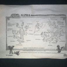 Figuas y Muñecos Caballeros del Zodiaco: ALPHA. CABALLEROS DEL ZODIACO. INSTRUCCIONES 1987. BANDAI. EN ESPAÑOL.. Lote 242419240