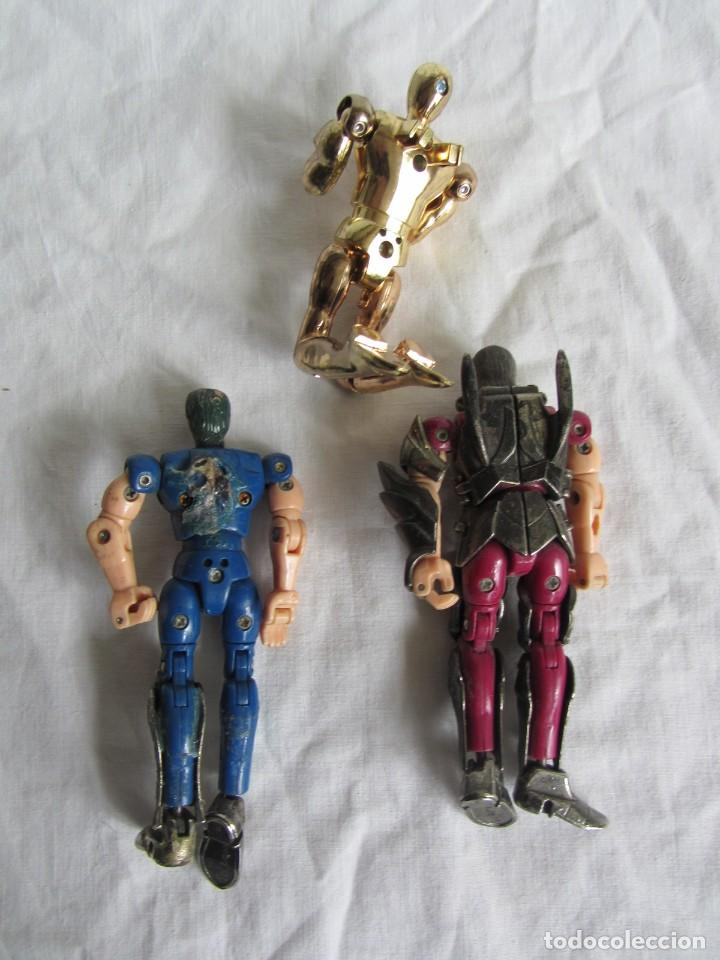 Figuas y Muñecos Caballeros del Zodiaco: 3 figuras Caballeros del Zodiaco Bandai, años 80 - Foto 6 - 260375485
