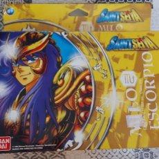 Figuas y Muñecos Caballeros del Zodiaco: SAINT SEIYA MILO CABALLERO ORO ESCORPIO ZODIACO BANDAI AÑO 2006. Lote 268942084