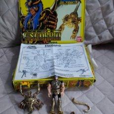 Figuas y Muñecos Caballeros del Zodiaco: CABALLEROS DEL ZODIACO ESCORPIO 1987 BANDAI. Lote 287102308