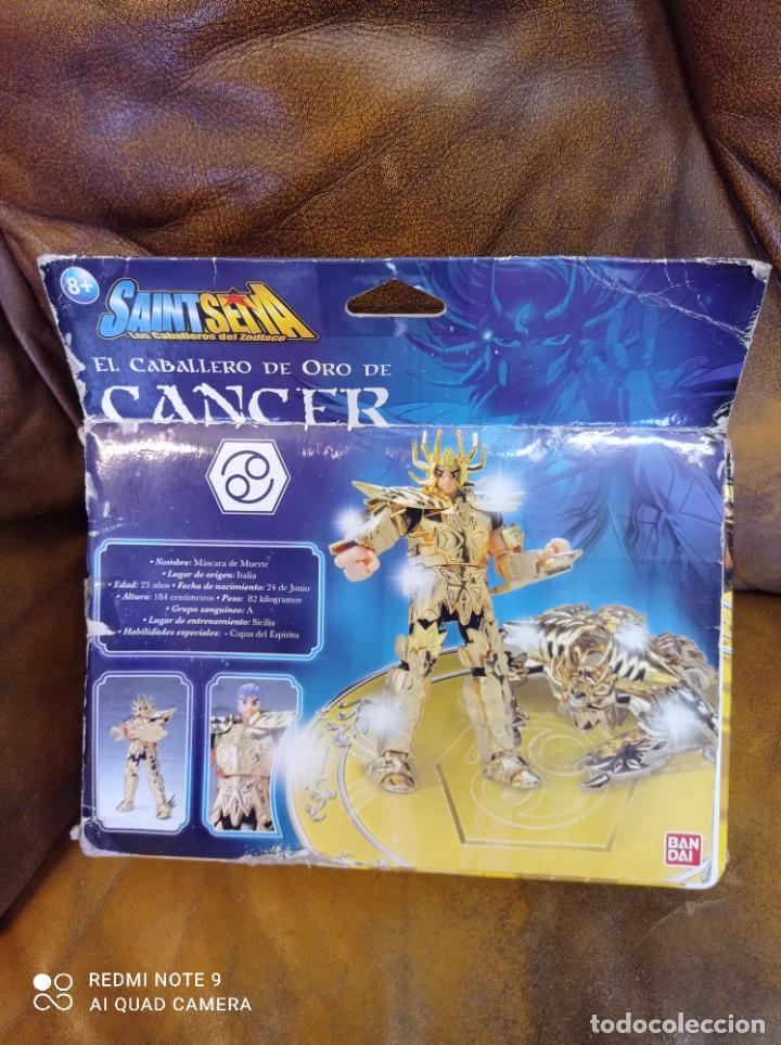 Figuas y Muñecos Caballeros del Zodiaco: Los caballeros del zodiaco. El caballero de oro de cáncer. Bandai 2006.Sin usar - Foto 7 - 289331673