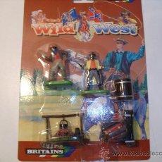 Figuras de Goma y PVC: BRITAINS - WILD WEST- CAMPAMENTO CON DOS PISTOLEROS. Lote 31884251