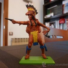 Figuras de Goma y PVC: BRITAINS INDIO-ESCALA 1/35-1/32(54/60MM).. Lote 35843337