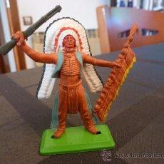 Figuras de Goma y PVC: BRITAINS INDIO-ESCALA 1/35-1/32(54/60MM).. Lote 35843384