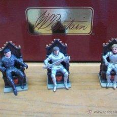 Figuras de Goma y PVC: CAJA MEDIEVAL DE BRITAINS - CAJA BRITAINS CABALLEROS DE LA MESA REDONDA SIR PERCEVAL TRISTAN MORDRED. Lote 44078843