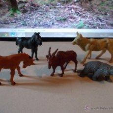 Figuras de Goma y PVC: BRITAINS LOTE DE CABALLOS SERIE GRANJA. ANIMALES, FIERAS BRITAINS O PECH.AÑOS 70-80.PTOY. Lote 46584683
