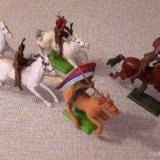Figuras de Goma y PVC: BRITAINS. INDIOS A CABALLO.. Lote 59961095