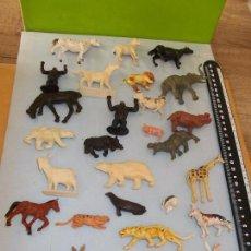 Figuras de Goma y PVC: BRITAINS ORIGINAL :LOTE DE 28 FIERAS ZOO Y ANIMALES GRANJA.ORIGINALES AÑOS 70-80.VARIAS ESCALAS.PTOY. Lote 51478579