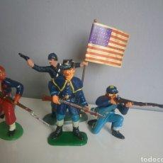Figuras de Goma y PVC: FEDERAL YANKEE SOLDADOS GUERRA CIVIL SECESIÓN AMERICANA, SOLDADO BRITAINS Y OTROS OESTE FEDERALES. Lote 89201559