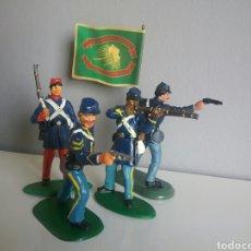 Figuras de Goma y PVC: FEDERAL YANKEE SOLDADOS GUERRA DE SECESIÓN AMERICANA, BRITAINS Y OTROS, OESTE SOLDADO FEDERALES. Lote 89303256