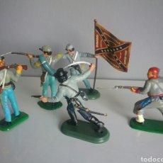 Figuras de Goma y PVC: CONFEDERADO SUDISTA, SOLDADOS DE LA GUERRA DE SECESIÓN USA, BRITAINS Y OTROS SOLDADO OESTE . Lote 89311662