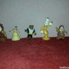 Figuras de Goma y PVC: LOTE DE 6 FIGURAS DISNEY DE LA BELLA Y LA BESTIA. Lote 86109652