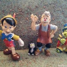 Figuras de Goma y PVC: FIGURAS EN PVC DE GEPETO, PINOCHO Y PEPITO GRILLO. BULLYLAND. . Lote 88355432