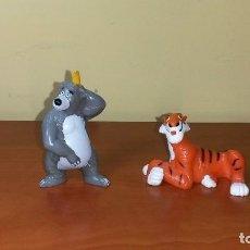 Figuras de Goma y PVC: LOTE LIBRO DE LA SELVA OSO BALOO TIGRE SHERE KHAN DISNEY BULLY MUÑECOS PVC. Lote 92997600