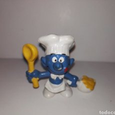 Figuras de Goma y PVC: PITUFO COCINERO PVC BULLY WEST GERMANY AÑOS 80. Lote 95678687