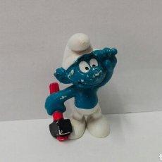 Figuras de Goma y PVC: PITUFO CON MARTILLO BULLY PEYO LOS PITUFOS BULLY SMURFS BARRUFETS PITUFO LEÑADOR. Lote 95769908
