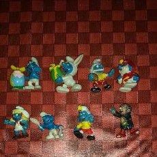 Figuras de Goma y PVC: LOTE 16 MUÑECOS DE LOS PITUFOS SMURFS DE DIFERENTES EPOCAS AÑOS 80-90-00 BULLY SLEICH. Lote 104074827