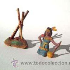 Figuras de Goma y PVC: CAPELL ,INDIA SENTADA + FUEGO.REF,2706. Lote 28452495