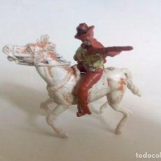 Figuras de Goma y PVC: FIGURAS VAQUERO A CABALLO AÑOS 50. Lote 94498802