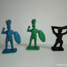 Figuras de Goma y PVC: TRES AFRICANOS MONOCROMO DE LURAVE, AÑOS 60. COPIAS DE ALCA CAPELL. Lote 106748319