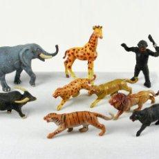 Figuras de Goma y PVC: CAPELL NUEVE FIERAS EN PLÁSTICO. Lote 109060856