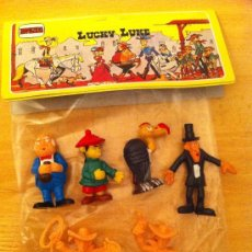 Figuras de Goma y PVC: BOLSA DE FIGURAS DE LUCKY LUKE. Lote 40017936