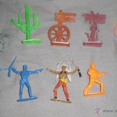 Figuras de Goma y PVC: JUGUETE COMANSI. FIGURAS DEL OESTE, LOTE DE 10. Lote 46637590